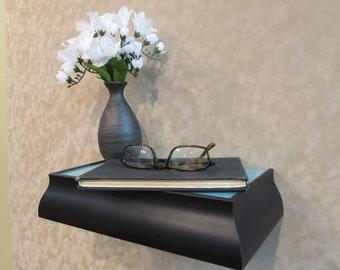 Framed Floating Shelf - Black and Blue, Wall Mounted Shelf, Display Shelf, Alter Shelves,