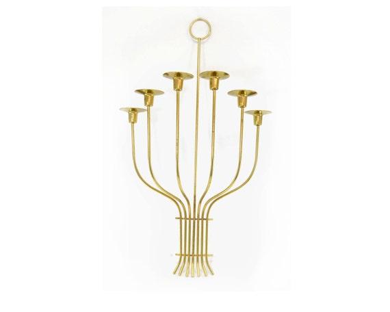Vintage Brass Mid-Century Modern Candlestick By
