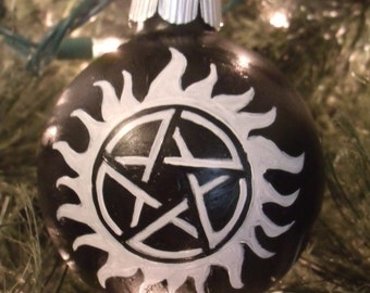 Handpainted Supernatural Ornament