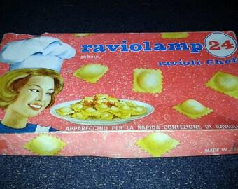Vintage Raviolamp Ravioli Mold Tray/Pan With Original Box - Made in Italy