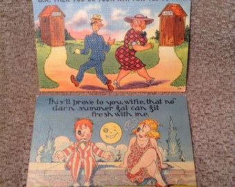Vintage Postcards - Drinkers Comics Post Cards - Unposted - 1940's