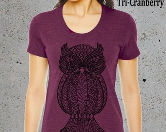 Owl Lover Gift,Owl Clothing,Owl T Shirt,Owl Tee.Yoga Tshirt American Apparel Graphic Tee-Girlfriend gifts for her'__//()Instagram Like