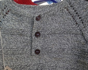 Gray Hand Knit Baby Sweater
