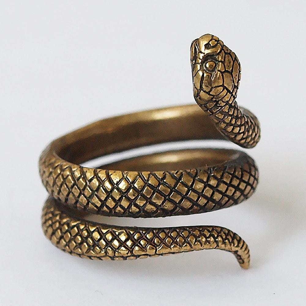 Snake Rings Antique Gold