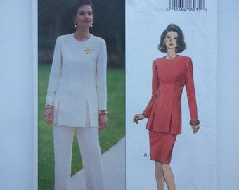 90s suit / mother bride outfit / suit jacket / womens pant suit / 1993 vintage sewing pattern, Sizes 6 8 10, Bust 30 31 32, Butterick 6899