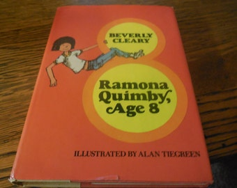 RARE 1981 Ramona Quimby by Beverly Cleary Hard Cover Dust Jacket First Edition Second Print