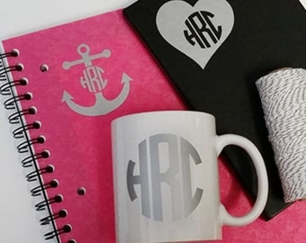"2.5"" Monogram Decals – 3 pack! - Personalized ''SALE"""
