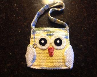 Little girl's owl purse