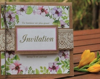 Announcements range |mariage to the jardin|