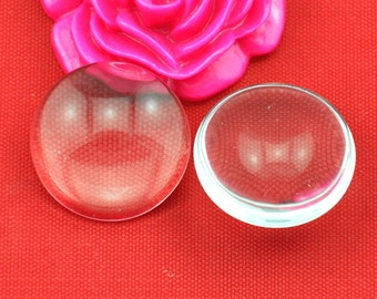 50 Circle Clear Glass Cabochon Beads, All Sizes Round Clear Cabochons 6mm 8mm 10mm 12mm 14mm 15mm 16mm 18mm 20mm 25mm 30mm