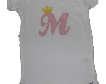 Monogrammed T-Shirt, Girl's Shirt, Personalized Kid's Clothing, Graphic Tee