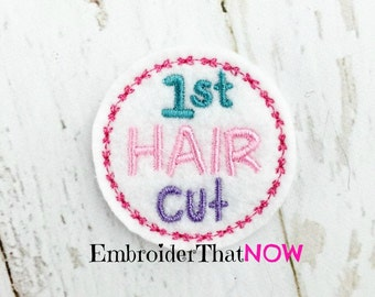 First Hair Cut Digital Feltie Embroidery Design File