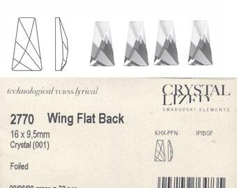 Swarovski 2770 16x9.5 Crystal Wing Flatback Price is for 5 stone