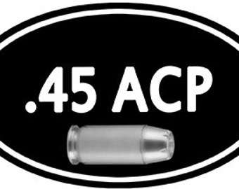 Stickers for your Ammo Cans! 2-Pack of .45 ACP  Keep your target practice ammo organized!