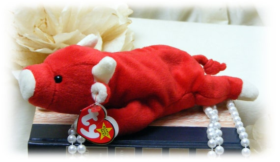 """TY """"Snort"""" . . . The Red Bull """" Vintage TY Beanie Baby"""" . . 50% OFF . . new price below"""