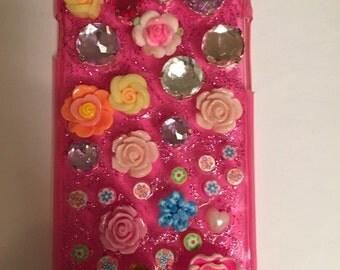 Rhinestone IPhone 6/6S Case, Luxury iPhone 6 case, Bling IPhone 6 case, Glitzy iPhone 6 case,Handmade, iPhone 6 phone case, mobile