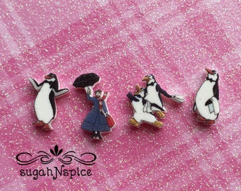 Disney's Mary Poppins Floating Charms - Mary Poppins Memory Charms - Mary Poppins Floating Charm - Mary Poppins Memory Charm