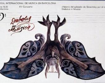 Festival Internacional de Musica en Barcelona. Original Poster. 1971
