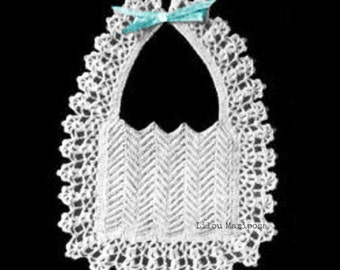 Crochet BIB Pattern Vintage 40s Crochet baby bib pattern Crochet INSTANT DOWNLOAD