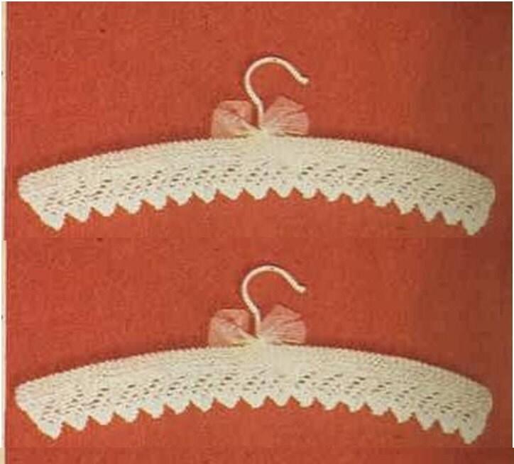Knitting Coat Hangers : Knitting hanger cover pattern baby shower