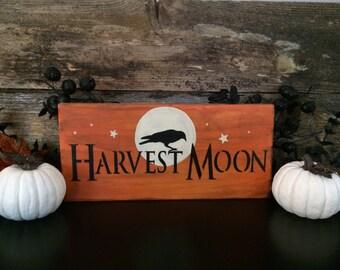 Harvest Moon Sign in Orange