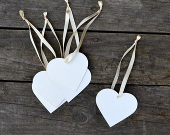 Wish wedding Heart Tags Set of 50