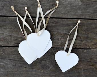Wish wedding Heart Tags Set of 50