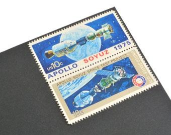 24 Apollo Soyuz Stamps - 10c - Vintage 1975 - Unused Postage - Quantity of 24