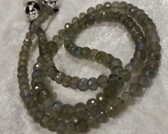 AAA Rated Blue Fire Labradorite  -  4mm Rondelles