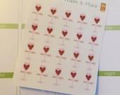 20 Date Night stickers for Erin Condren Life Planner Filofax Gillio