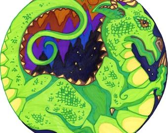 Mandala Dragon - Earth Element - Print from Original Design