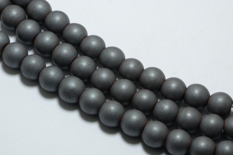 10mm Hematite Beads - 1.5mm Hole Size - 40 pces  |Hematite Beads