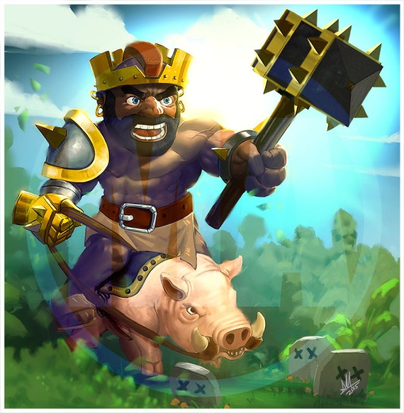 Clash Of Clans Art: Hogorian King Digital Photo Version