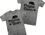 Mama Bear / Papa Bear Couples Shirts!