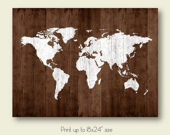 Large world map poster download grey wood texture world map of map of the world map poster download map wood texture printable large size wall art decor gumiabroncs Gallery