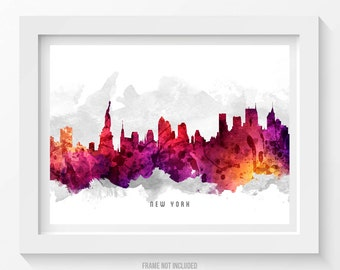 Decor van de stad van New York City Art, New York, New York City Skyline Poster, Cityscape, Home Decor, de idee van de Gift 14
