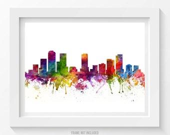 Denver Colorado Skyline Poster, Denver Cityscape, Denver Print, Denver Art, Denver Decor, Home Decor, Gift Idea 06