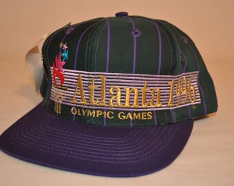 Vintage Deadstock 1996 Atlanta Olympics Snapback Hat Cap with USA Basketball Pin