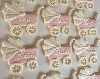 Hand piped carriage cookies