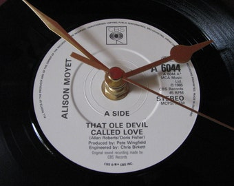 "Alison Moyet that ole devil called love  7"" vinyl record clock"