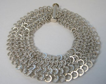 flat chainmaille bracelet