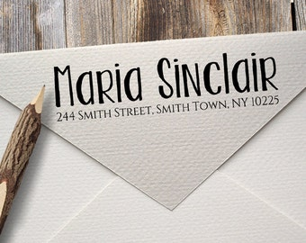 Self Inking Stamp - Custom Address Rubber Stamp - Return Address - Black Blue Red Green  - Personalized Name Stationery - Housewarming Gift