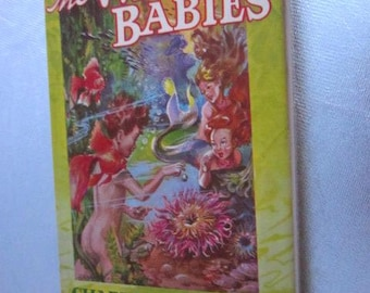 THE WATER BABIES Charles Kingsley Hardcover Circa 1940s Reprint Vintage Children's Book