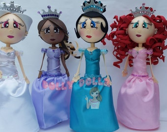 Dolls Quince centerpieces,Quinceanera Doll, Sweet sixteen Doll Quinceanera Cake Topper, Sweet Sixteen Fofucha, Favors Handmade dolls,Quince