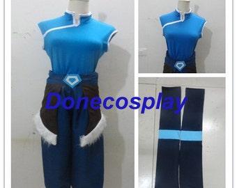 Avatar the legend of korra season 4 korra cosplay costume Version 4