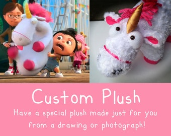 Custom Plush from a Drawing or Photograph