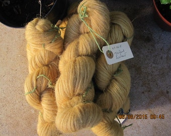 Icelandic pure wool, hand dyed with Filipendula ulmaria 07062015-2