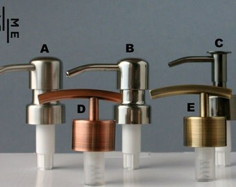 High quality stainless steel metal soap / lotion dispenser pump head