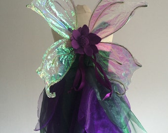 Iridescent Faery wings perfect for every fae small or tall girls fairy wings childrens faerie wings bridal flower girl magical wedding wings