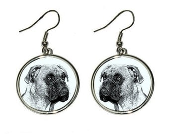 Boxer, dog earrings tears, metal, dog jewelry, dog lovers gift